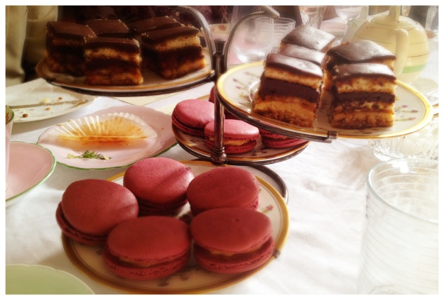 Gateau Opera Macarons Dinner at the Manor Cafe Nouveau
