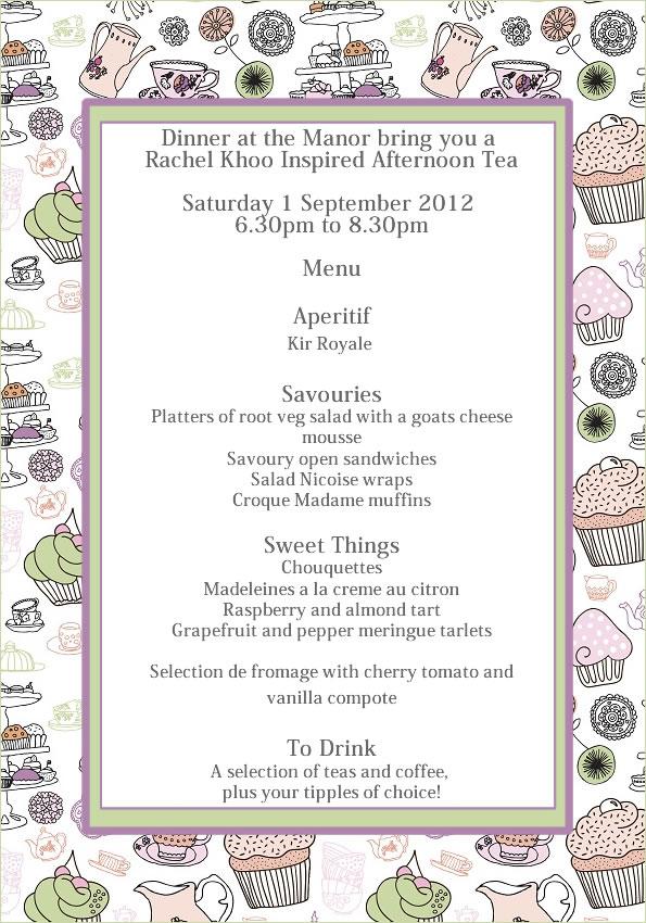 Rachel Khoo Inspired Afternoon Tea Dinner At The Manor
