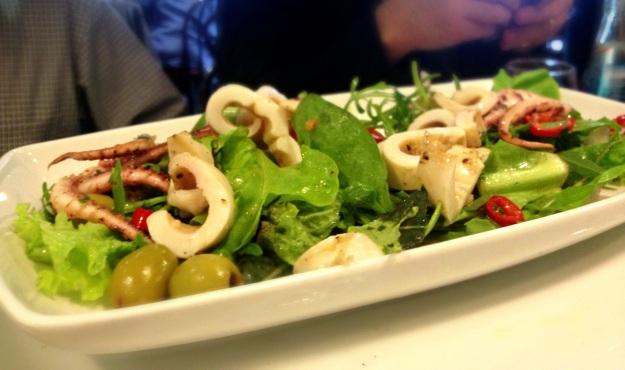Griddled Squid Salad