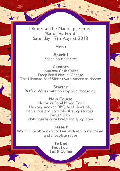 August 2013 - Manor vs Food