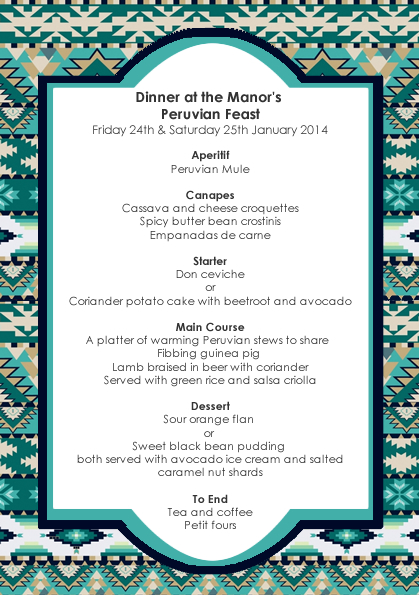 January 2014 - Peruvian Feast