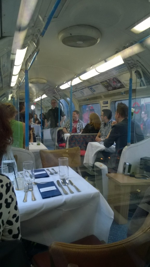 Supperclub on a tube train