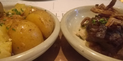 Pintura potatoes and pig cheek