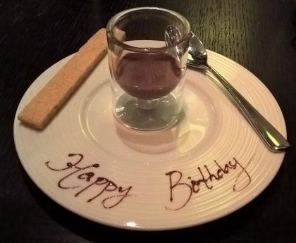 Birthday ganache