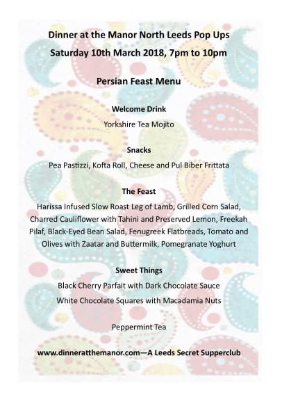 Persian Feast Menu